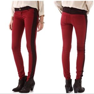 Current/Elliot 'The Rider' leggings crimson 26